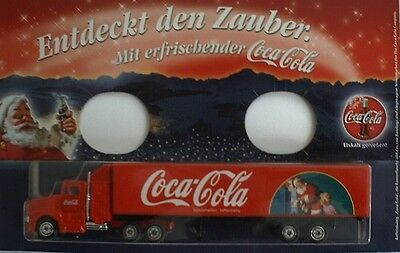 Coca Cola - Christmas 1999 (Germany) / US Mack truck + trailer, Scale 1:90