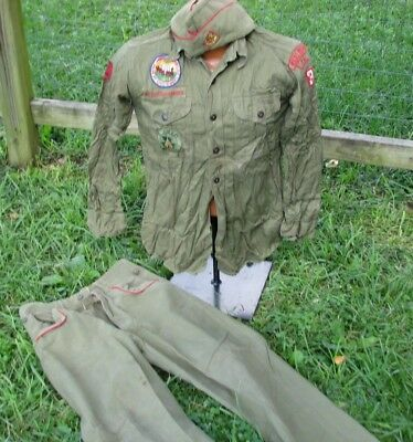 Vintage Boy Scouts Uniform Pants Hat 1953 Irvine California Jamboree Reading Pa
