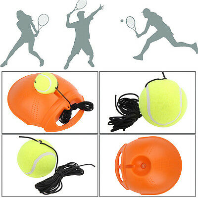 Outdoor Tennis Ball Singles Training Practice Drills Back Base Trainer WR