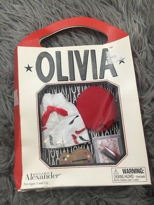 Madame Alexander 2002 Artist Olivia The Pig BRAND NEW & RETIRED! Art Outfit Doll