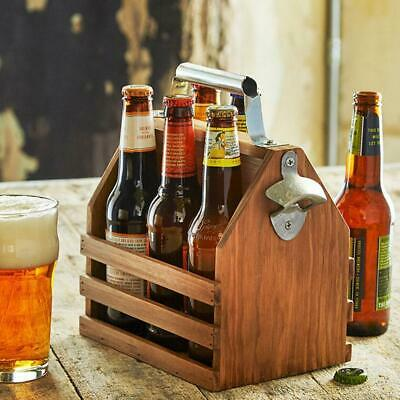 Timber Beer Caddy with Bottle Opener