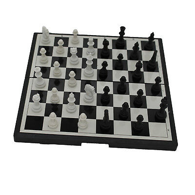 Magnetic Folding Chessboard Chess Board Box Set Portable Kids Game Toy Puzzle WR