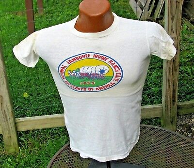 Original Vintage T-Shirt Boy Scouts 1953 National Jamboree Irvine California