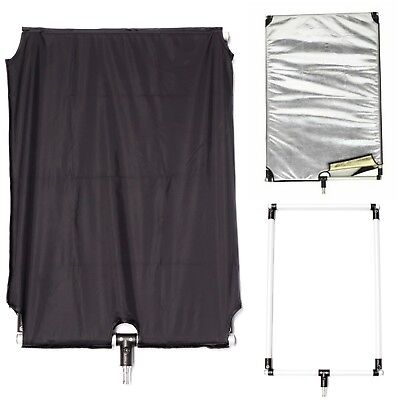 Portable Flag Panel Frame with 4 in 1 Cover Light Control Modifier Reflector