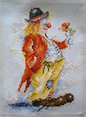 Lanarte Completed Counted Cross Stitch Tapestry Unframed Picture Clown