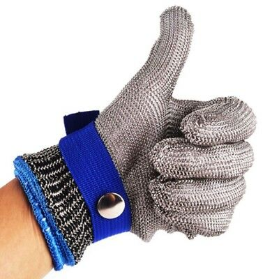 Safety Cut Proof Stab Resistant Stainless Steel Metal Mesh Butcher Glove XS-3XL