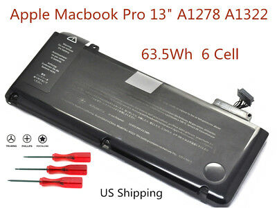 """NEW Genuine A1322 Battery For Macbook Pro 13"""" A1278 Mid 2009/2010/2011/2012 US"""