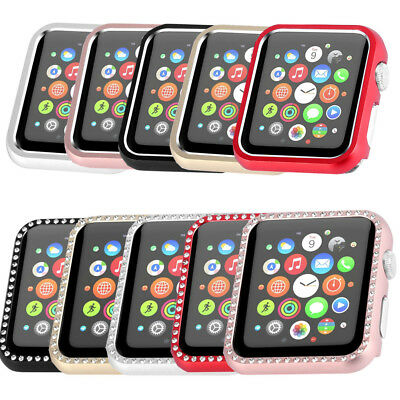 Metal Coated Protective Case Cover For Apple Watch Series 3 2 1 Nike+ 38mm 42mm