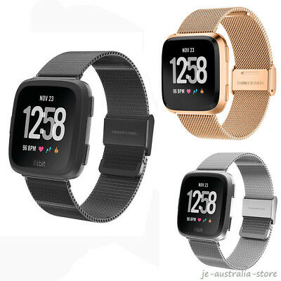 New Milanese For Fitbit Versa Smart Watch Stainless WatchBand Wrist Band Strap