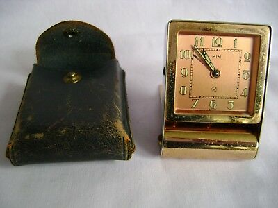 Vintage Lecoultre  2 Day Travelling Desk / Alarm Clock In Good Working Order