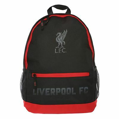 Liverpool FC Front Pocket Black/Red Backpack LFC Official