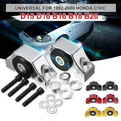 92-00 Honda Civic EG EK JDM B D Series Engine Motor Torque Mount Kit Silver