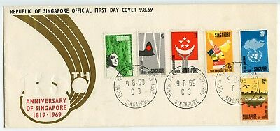 SINGAPORE Anniversary of Singapore 1819-1969 Official First Day Cover