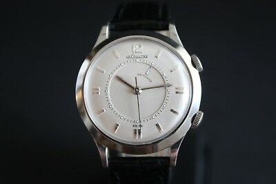 Vintage Jaeger Le Coultre Memovox Alarmwatch Armbanduhr 17J ca 1960 Swiss Made