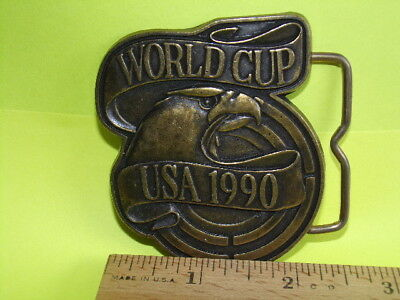 1990 World Cup Belt Buckle REAL NICE Made in U.S.A