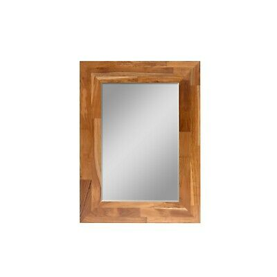 Wall Hanging Wooden Frame Makeup Mirror Vintage Wall Decor In Bedroom Washroom