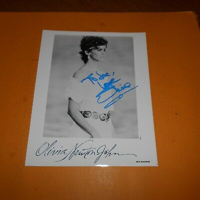 Olivia Newton-John is an English-Australian singer Hand Signed Photo