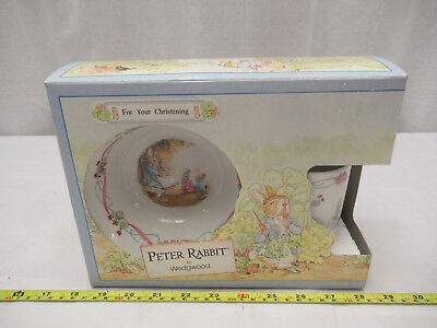 Wedgwood Peter Rabbit 3 Piece Christening Set Boxed