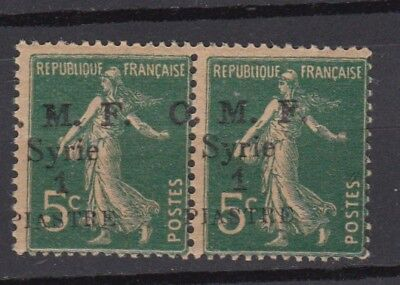 Syria France Military Occupation ERROR 'Piastre' instead of 'Piastres' MNH-VF