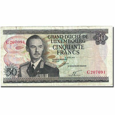 [#271881] Banknote, Luxembourg, 50 Francs, 1966-1972, 1972-08-25, KM:55a
