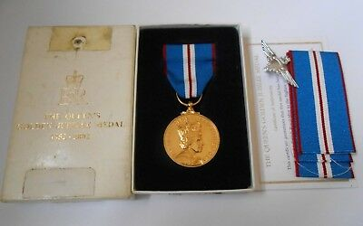 Queens golden jubilee medal awarded to SGT M J HILL PARACHUTE REGT