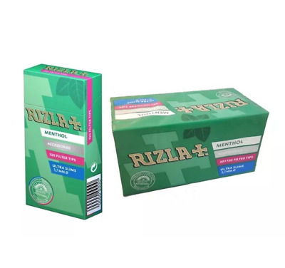Full Box of 2400 Rizla Menthol Cigarette Smoking Extra Slim Filter Tips £10.45