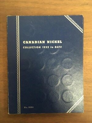 Canadian Nickel Collection 1922-61 Whitman Album 46 coins missing 1925 1926 far