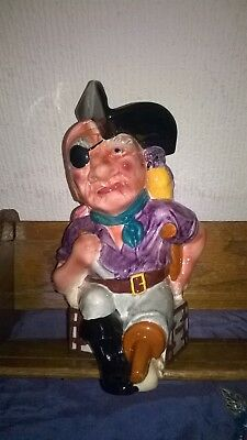 VINTAGE SHORTER & SONS. `LONG JOHN SILVER` FIGURE. HAND PAINTED. 10 ins. TALL