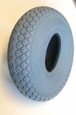 1 set of 4 330x100 400x5 Grey Block Mobility Scooter Tyres 4.00-5 Diamond Tread
