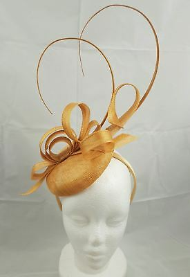 Sara Gold Fascinator