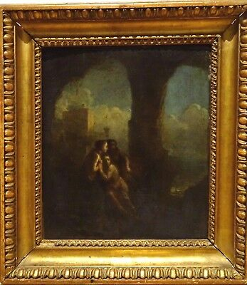 Fine 18th Century French Classical Old Master Nude Maidens Nymphs Oil Painting