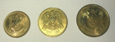 1382-1962 3 Coin Syria Set: 2-1/2, 5 & 10 Piastres New Issue Beautiful Toning