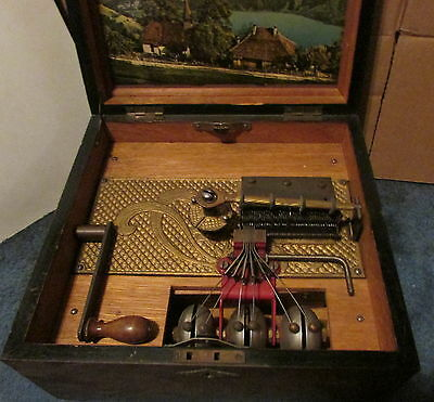 Antique Six Bell Kalliope Disc Music Box - Excellent Condition