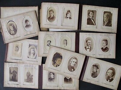 Antique Victorian Photo Album w/ 69 Photographs // Chicago + Peoria Area