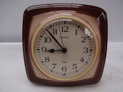 Vintage Ceramic H Samuel Quartz Wall Clock Made In Germany.