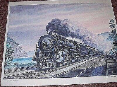 Vintage Print New York Central RR, 20th Century Limited, by Howard Fogg