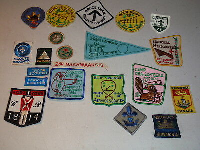 Lot of Vintage Boy Scout Patches BSA BSC Scouts Toronto More