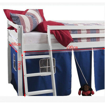 Children Bed Tent Curtain ONLY for Kids Single Mid Sleeper Cabin Bunk Bed