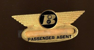 Bonanza Airlines Passenger Agent Wing  Badge Pin  Northwest Airlines