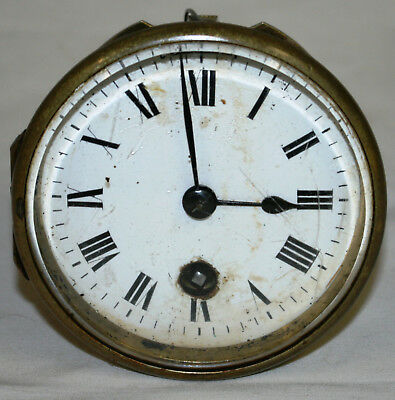 Antique Albert Villon Complete Clock Movement for Parts Repairs Or Restoration