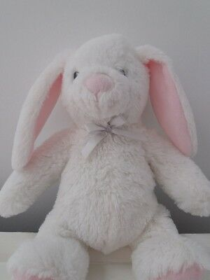 Blankets & Beyond White Bunny Rabbit with Pink Ears,  Comforter . FREE UK POST