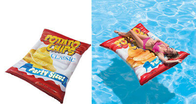 Intex Giant Potato Chips inflatable Ride On Beach Toy Swimming Pool Float Lilo