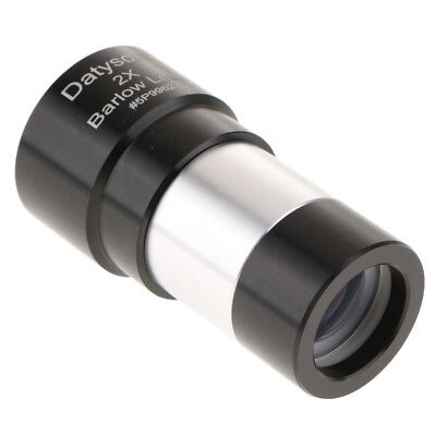 "1.25"" 2X Achromatic Barlow Lens Metal Design for 31.7mm Telescope Eyepiece"