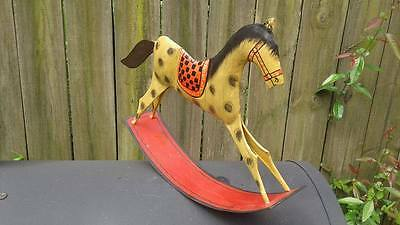 Vintage Foreside Metal Rocking Horse Hand Made & painted in India