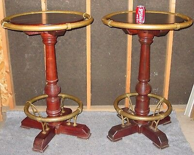 Rare matched pair antique French pub tavern tables-----------15499