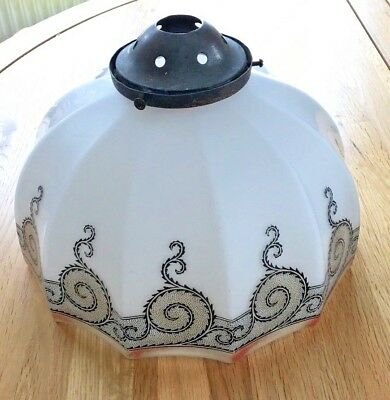Original Antique Art Deco Style Glass Lampshade - 1930s?