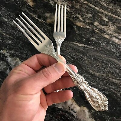 """1 NEW REED BARTON STERLING FRANCIS I DINNER FORK 7-3/4"""" 81g (QTY 4 AVAIL)  W34"""