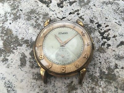 RARE DUWARD OVERSIZE WATCH UNITAS Cal.176  GENTS SIZE FOR REPAIR RESTORE
