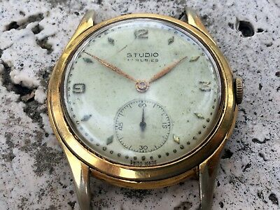 RARE STUDIO REVUE WATCH Cal.590 GF  GENTS SIZE FOR REPAIR RESTORE