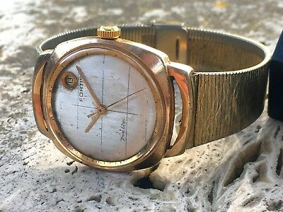 Rare Fortis True Line Automatic Watch Gf Swiss Made  For Repair